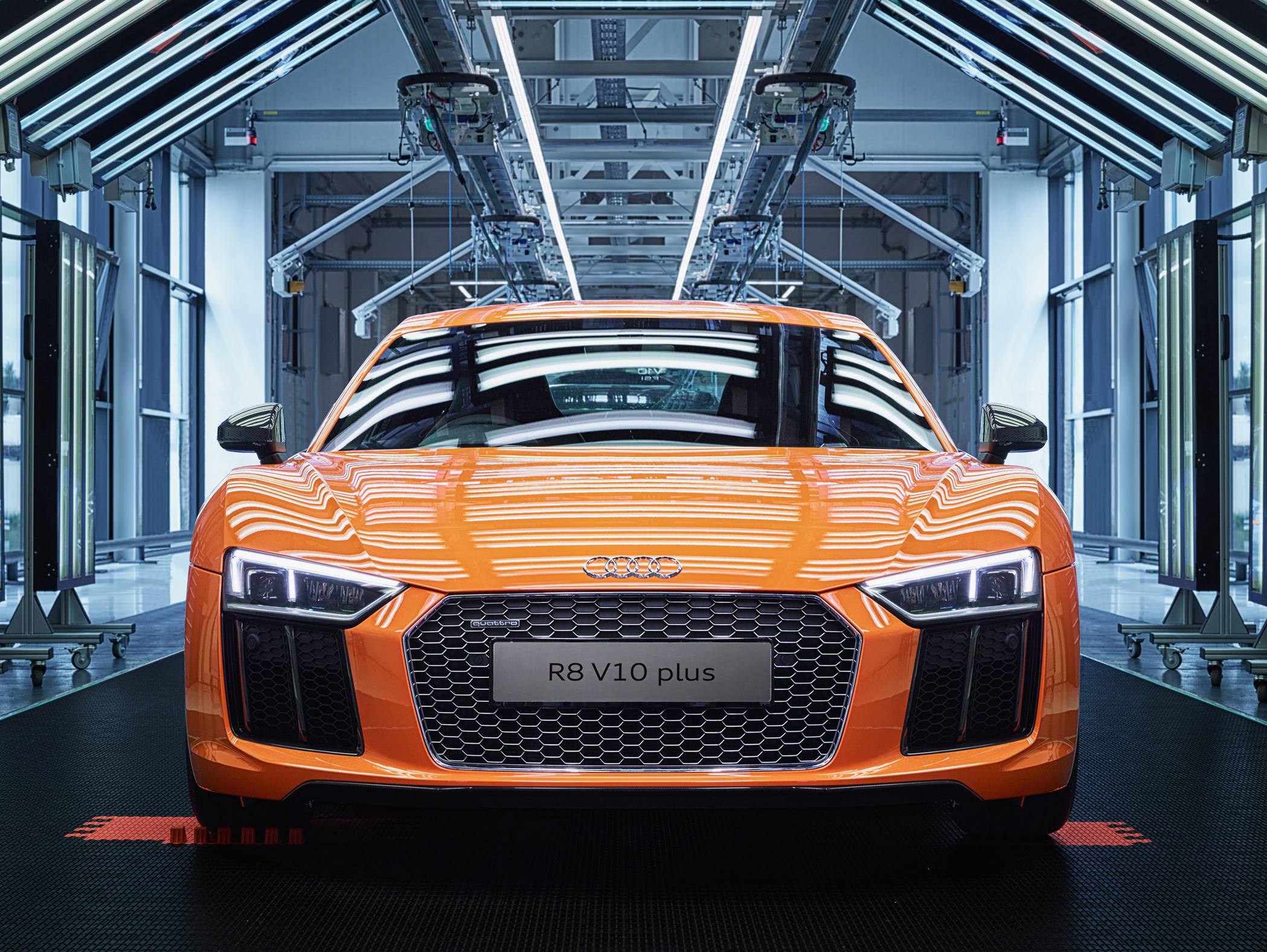 Audi R8 V10 Plus Head On